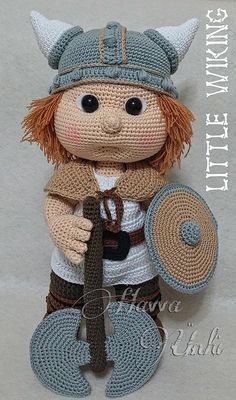 English Pattern Tommy With Viking Costume by HavvaDesigns on Etsy