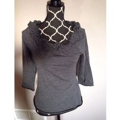 Anthropologie Moth ruffled collar sweater Very cute basic knot too. Size medium. Great condition! Anthropologie Tops
