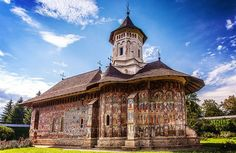 Moldovita Monastery one of the Churches of Moldavia (UNESCO World Heritage Site, Vatra Moldovetei, Romania Bulgaria, Siege Of Constantinople, Visit Romania, Romania Travel, Urban Fabric, Hagia Sophia, The Beautiful Country, Beautiful Places, Saint Petersburg