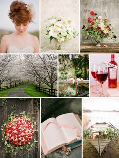 Anne of Green Gables wedding inspiration board! Love literary themes!