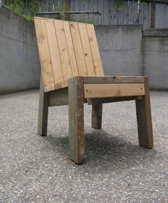 Chair made of 2x4s