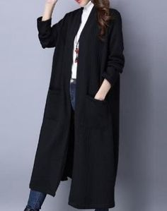 5131abacc94  36.99 Cotton Solid Color Thickened Long Sleeve Long Coats Manteau Long