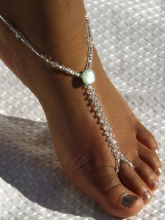 Foot Jewelry Barefoot Sandals Bridal by SubtleExpressions on Etsy, $19.00