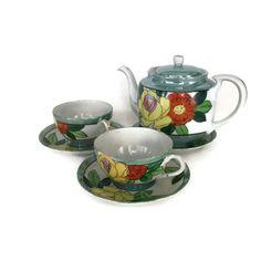 Tashiro Shoten Teapot and Teacups, Lustreware Teapot, Eggshell Porcelain Teacups - pinned by pin4etsy.com