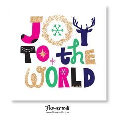 Glittered Christmas Joy www.flowermill.co.za Holiday, Christmas, Glitter, Joy, Artwork, Cards, Yule, Vacations, Xmas