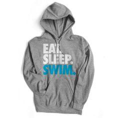 Swimming Standard Sweatshirt Eat. Sleep. Swim.