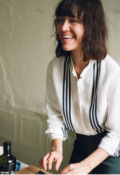 Q: What are some of the most valuable lessons you've learned? A: Work hard. Find something that you absolutely love and pursue it... CAMILLE BECERRA, APIECE APART WOMAN