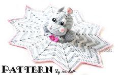 Happy Hippo The Hippopotamus Snuggle Buddy Lovey Security Blanket By IIra Rott - Purchased Crochet Pattern - (ravelry)
