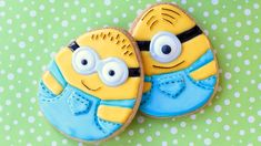 Minion Cookies - How to make Easter egg minion cookies