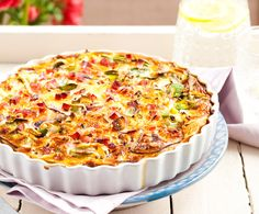 Recept: Quiche lorraine | Light koken Quiche Lorraine, Quiches, Real Food Recipes, Yummy Food, Brunch, Albondigas, Quiche Recipes, Skinny Recipes, Convenience Food