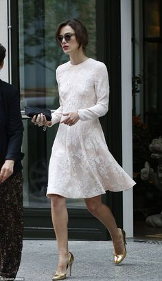 Timeless beauty: Keira Knightley dazzled when she stepped out in New York City on her way to an appearance on the Today Show on Friday