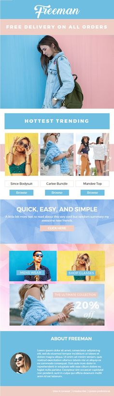 Creative Email Newsletter Template #email #newsletter #video - email newsletter template
