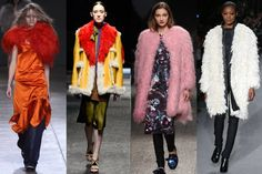 Top 14 Trends of Fall 2014 - Best Fall Fashion Trends - ELLE Muppet Babies Shearling dominated almost all the runways this fashion month. It is interesting to see how many designers chose to work in this skin over more traditional furs and leathers. Prada, MSGM, and Tom Ford