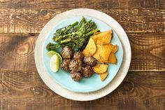 Hoisin-Glazed Meatballs with Roasted Sweet Potato and Broccolini Recipe | HelloFresh
