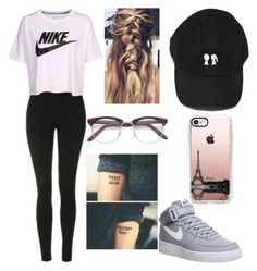 """""""Untitled #571"""" by rozzy-kalien ❤ liked on Polyvore featuring Topshop, NIKE and Casetify"""