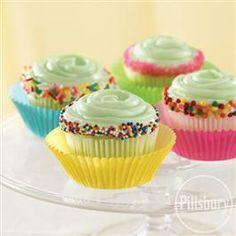 Festive Lime #Cupcakes from Pillsbury® Baking