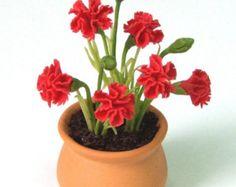 Fresia English Cottage Garden Miniature Polymer by Mycraftgarden