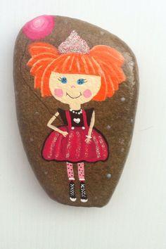 Lalaloopsy painted rock