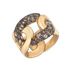 "Pomellato 18k Pink Gold & Brown Diamond ""Tango"" Ring"