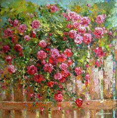 Watercolor Landscape, Landscape Paintings, Watercolor Art, Paintings I Love, Beautiful Paintings, Oil Paintings, Art Floral, Garden Painting, Garden Art