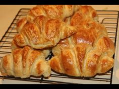 How to make homemade croissant with cheese and salami [HD] - YouTube