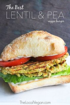 The Best Lentil and Pea Veggie Burger  - Healthy #Vegan Dinner / Lunch Recipes - #plantbased #cleaneating — The Local Vegan™️   Official Website