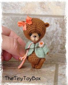Sold $157.85  OOAK ARTist Miniature Bear / Doll Vintage Style by TheTinyToyBox Thread Crochet
