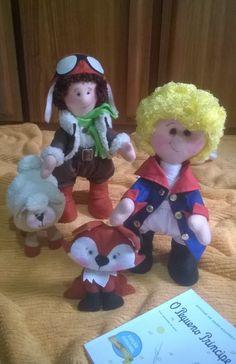 Bonecos  O Pequeno Príncipe, por Priscila Barbara- Cheia de Graça Ateliê.