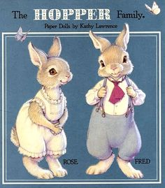 KEKAS Magazine: RECORTABLES. The Hopper Family - Rose and Fred