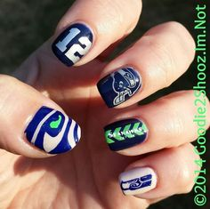 seahawks nail stamping plate - Google Search