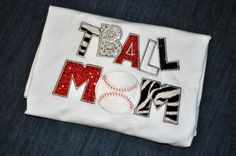 T Ball Mom shirt in Red black silver and by BIndulgedBoutique, $30.00
