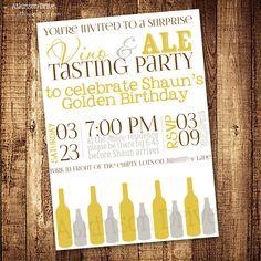 Printable Vino & Ale {Wine & Beer} Tasting Party Invitation. $8.00, via Etsy.