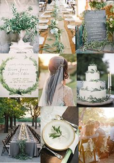 Inspiration - Italian/ Mediterranean Olive Branch Wedding Party Reception