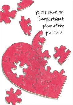 - Piece of the Puzzle Volunteer Thank You Cards Volunteer Appreciation Gifts, Volunteer Gifts, Employee Appreciation, Volunteer Week, Volunteer Ideas, Puzzle Piece Crafts, Puzzle Pieces, Thank You Gifts, Thank You Cards