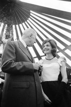 1960. 28 Avril. Charles de Gaulle et Jackie Kennedy à La Nouvelle-Orléans. Par Paul SLADE