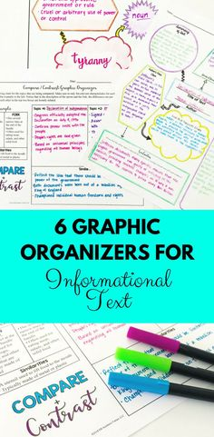 These multi-purpose Informational Text Graphic Organizers can be utilized in a number of ways in your classroom. They are excellent resources to use whenever you're studying an informational text. These are not your basic, fill-in-the-blanks graphic organizers.