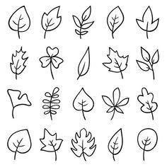 Free Vector Graphics, Free Vector Art, Cartoon Leaf, Leaves Doodle, Doodle Flowers, Arte Linear, Illustration Photo, Cool Doodles, Leaf Drawing