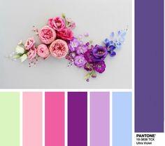 PANTONE 18-3838 Ultra Violet - Ультрафиолет цветовые комбинации - цветовая модная палитра Пантон Весна 2018