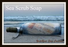 Sea Scrub soap with all natural sea salt & seaweed from the YesterYear Soap Company.