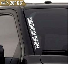 American Infidel Windshield Banner Vinyl Decal Sticker USA Decal Fits Ford F150 #3M