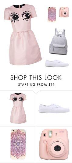 """look розово-белый"" by kristinattrn on Polyvore featuring мода, RED Valentino, Vans и Fujifilm"