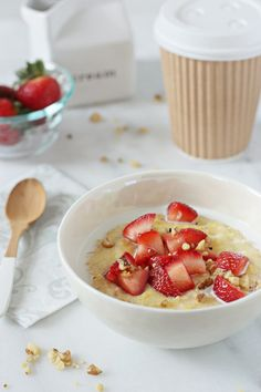 Strawberries and Cream Breakfast Polenta   Cookie Monster Cooking