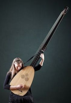 Serious lute: the huge theorbo, played by Lynda Sayce on the Shakespeare Sonnets album project[A situation for a capo. Motif Music, Banjo, Mandoline, Early Music, Music Guitar, Ukulele, Classical Guitar, Custom Guitars, Sound Of Music