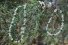 Green and Silver Necklace Bracelet Matching by TwoFeathersJewelry, $27.00