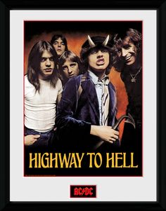 ACDC - Highway to Hell - Big Framed Collector Print
