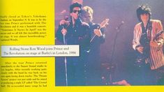 Ronnie, Sting & Prince paying Miss you High School Memories, Ron Woods, Newspaper Article, Roger Nelson, Prince Rogers Nelson, Rolling Stones, Magazine Covers, Love Of My Life, Revolution