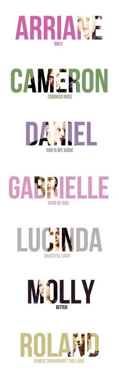 Arriane, Cameron, Daniel, Gabrielle, Lucinda, Molly and Roland