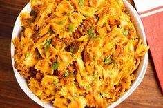 Instant Pot Beef and Bowtie Pasta via @onehappyhousewife via @onehappyhousewife