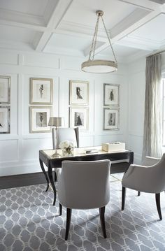 contemporary home office. Linda McDougald Design | Postcard from Paris Home, Greenville, SC.