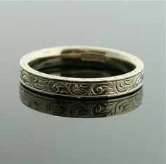 1920s White Gold Wedding Band by SITFineJewelry on Etsy, $850.00